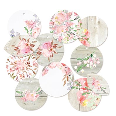Piatek13 Love in Bloom - Decoration Tags Set 1