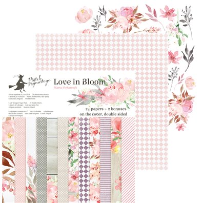 "Piatek13 Love in Bloom 6""x6"" Paper Pad"