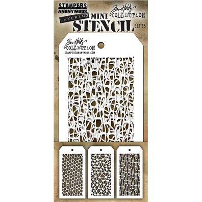 Tim Holtz Mini Stencil Set 35
