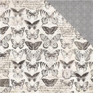 Pen & Ink - Etchings mønsterpapir fra KaiserCraft