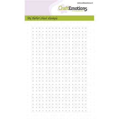 Craft Emotions Clear Stamp - A6 Bullet Journal - Bullet Dots