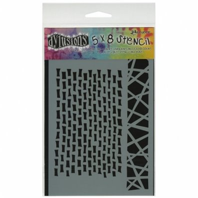Dylusions 5x8 Stencil - Staggered Brickwork