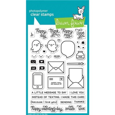 LOVE LETTR-LAWN FAWN CLR STAMP