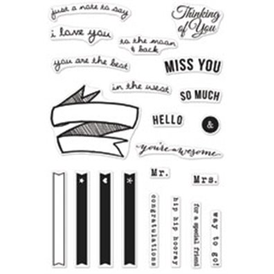 Hero Arts/ Stucio Calico Clear stamps Miss You So Much