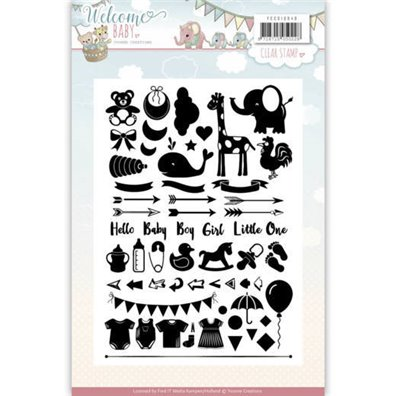 Yvonne Creations Clear Stamp - Welcome Baby