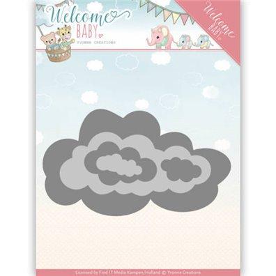 Yvonne Creations Die - Nesting Clouds
