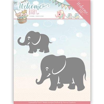 Yvonne Creations Die - Little Elephants