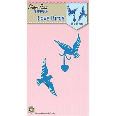 Nellie Snellen Shape Dies - Love birds