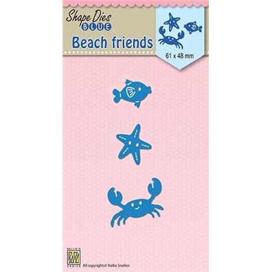 Nellie Snellen Shape Dies - Beach friends