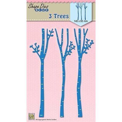 Nellie Snellen Shape Dies - 3 Trees