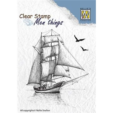 Nellie Snellen Clear Stamp - Sailingboat