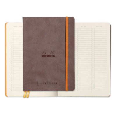 Rhodia Dot Grid Goalbook - Choco