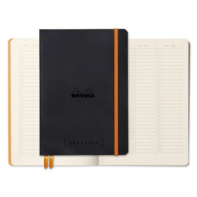 Rhodia Dot Grid Goalbook - Black
