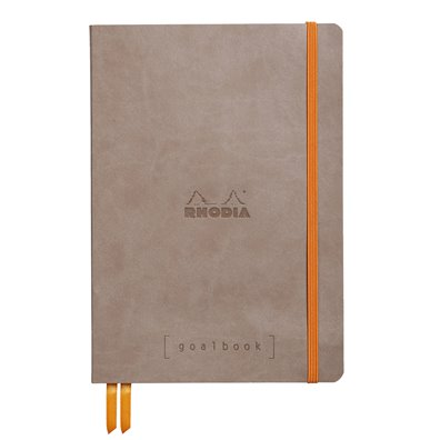 Rhodia Dot Grid Goalbook - Taupe