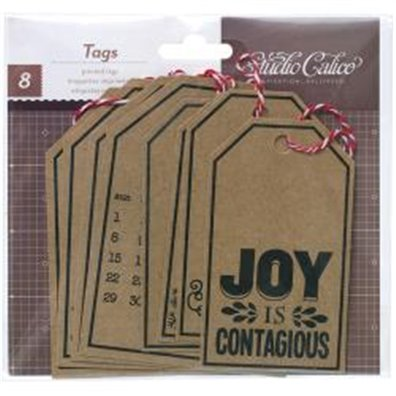 Embellishments - SC - Magical - 8 pc. - Kraft Tags