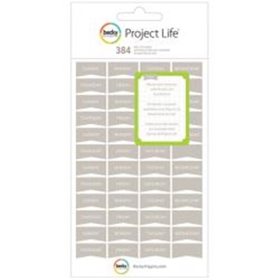 PL - Stickers - Grey - Day - 8 Sheets