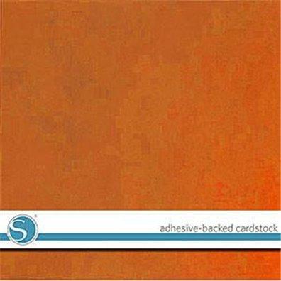 Silhouette Adhesive Cardstock - Burnt Orange