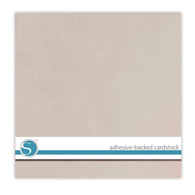 Silhouette Adhesive Cardstock - Taupe