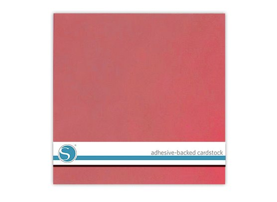 Silhouette Adhesive Cardstock - Pink