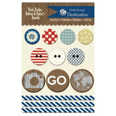 Lily Bee Design Destination Brad, Badge, Buttons & Bakers Twine
