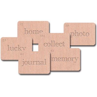 Jenni Bowlin Wood Veneer Flash Cards