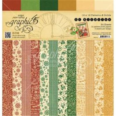 Graphic 45 St. Nicholas Patterns & Solids 12x12 Paperpad