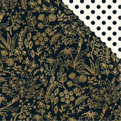 My Minds Eye Yes Please – Golden Floral Mønsterpapir