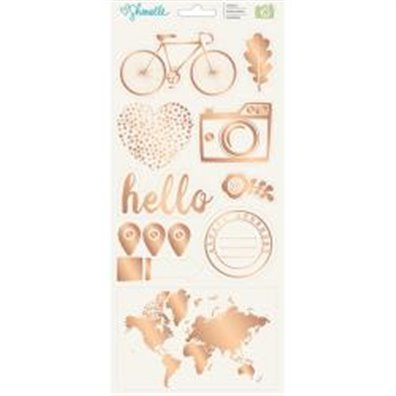 "Shimelle Go Now Go Stickers 6""X12"" 2/Pkg-Accents & Phrases"