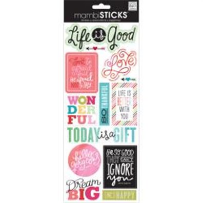 LIFE GOOD -SAYINGS STICKERS PKG