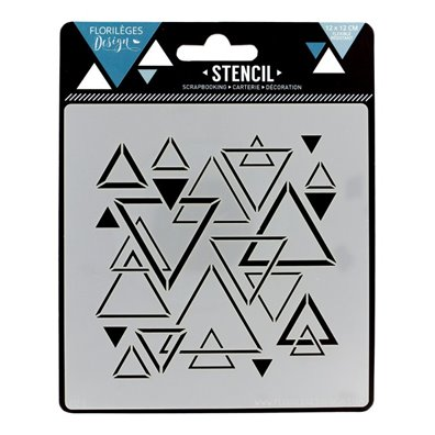 Florileges Design Stencil - Triangles Meles
