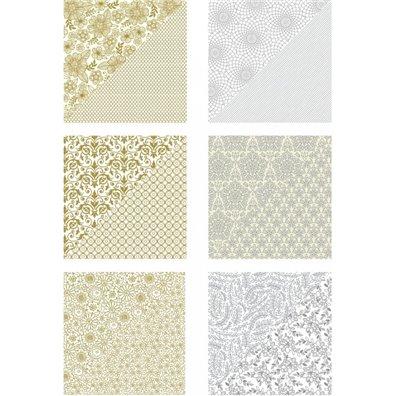 Richard Garay Silver & Gold Collection Papir 12x12 inch