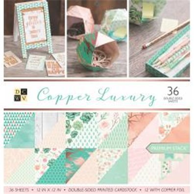 "Copper Luxury DCWV Double-Sided 12x12"" Cardstock Stack"