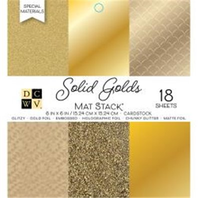 "Solid Golds DCWV Single-Sided 6x6"" Cardstock Stack"