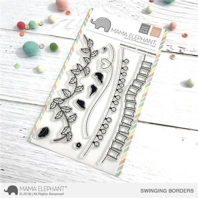 Mama Elephant Clear Stamps - Swinging Borders
