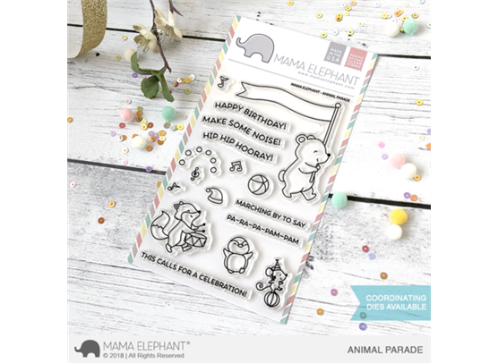 Mama Elephant Clear Stamps - Animal Parade