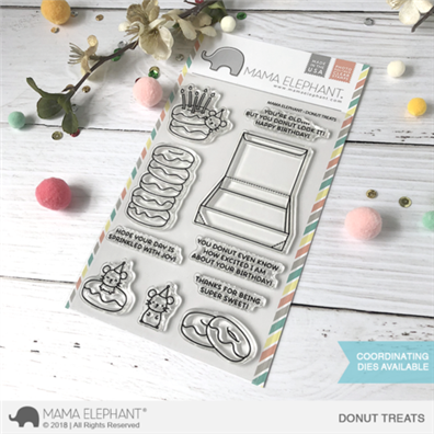 Mama Elephant Clear Stamps - Donut Treats