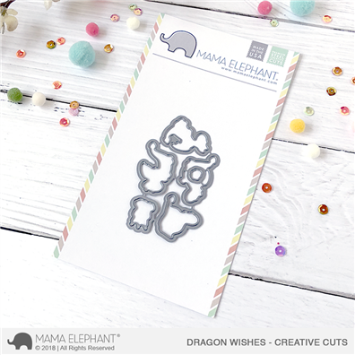 Mama Elephant Creative Cuts - Dragon Wishes