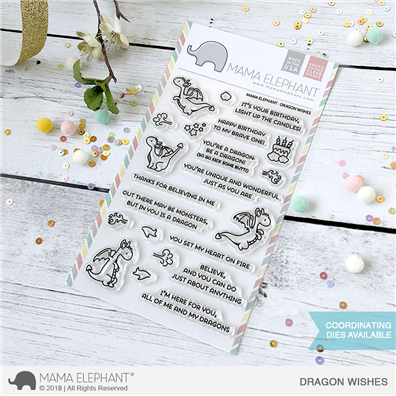 Mama Elephant Clear Stamps - Dragon Wishes