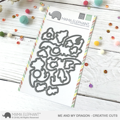 Mama Elephant Creative Cuts - Me and My Dragon