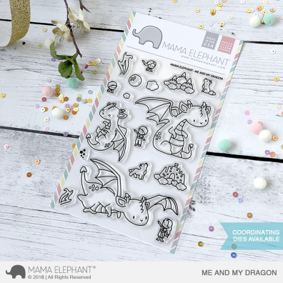 Mama Elephant Clear Stamps - Me and My Dragon