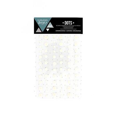 Florileges Design Enamel Dots - Edelweiss/hvid