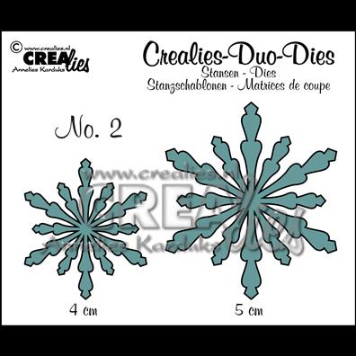 Crealies Dies - Snefnug - Duo Dies 2