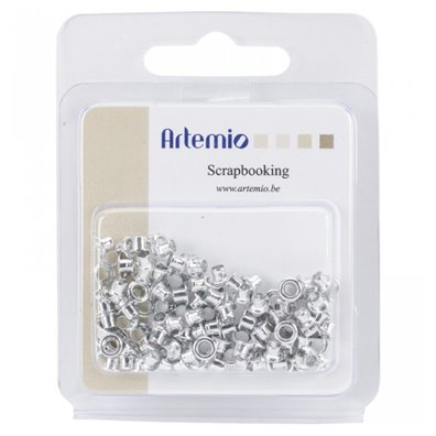 Artemio Mini Eyelets - Sølv 100stk