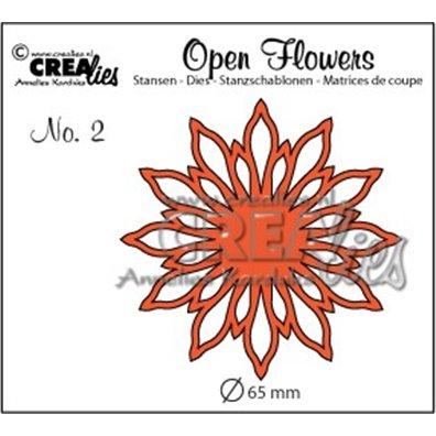Crealies Dies - Open Flowers - Crealies 2072