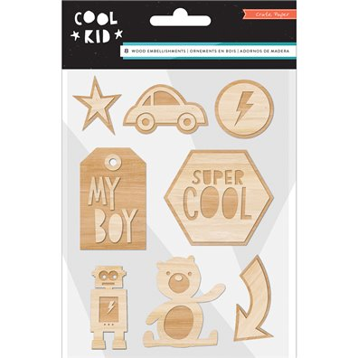 Cool Kid Wood Veneers fra Crate Paper