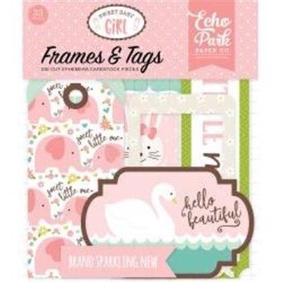 Sweet Baby Girl Cardstock Frames/Tags fra Echo Park