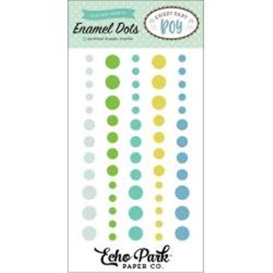 Sweet Baby Boy Adhesive Enamel Dots fra Echo Park