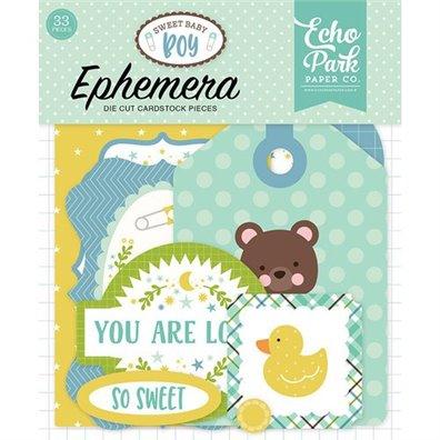 Sweet Baby Boy Ephemera Cardstock Die-cuts fra Echo Park