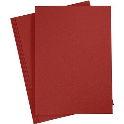 Karton A4, 20 ark - Solbærrød