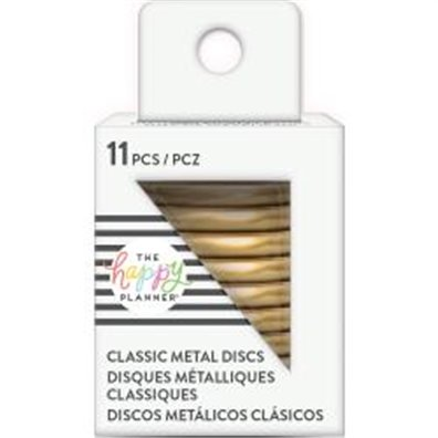 Create 365 rings - Happy Planner Metal Discs - Gold 1.25